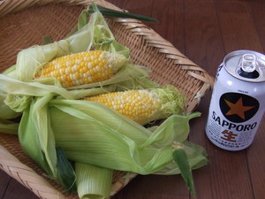 sweet corn from Sapporo